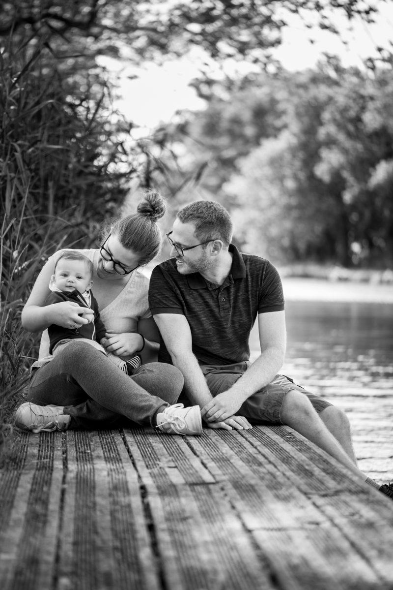 les parents avec leur bébé