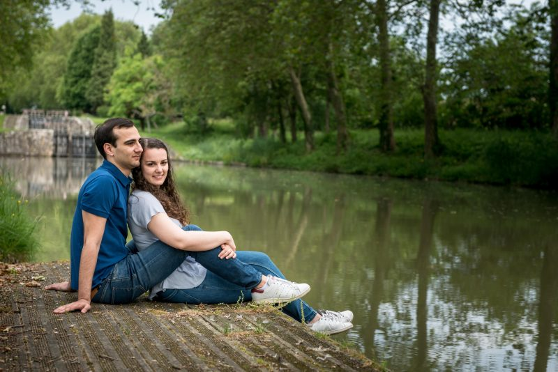 shooting couple près du canal du Midi
