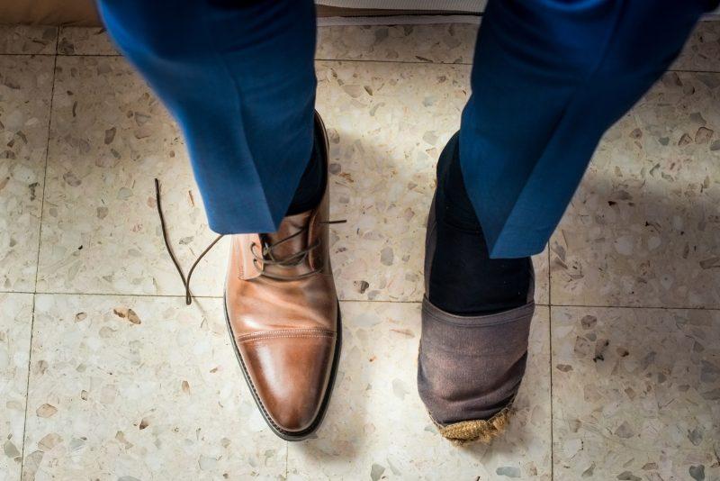 Les pieds du marié